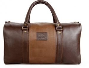 The Clownfish The Clownfish Brown Duffle Bag (Deluxe) 18 inch/45 cm Travel Duffel Bag (Brown)