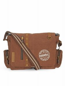 The House Of Tara Vintage Canvas Crossbody Travel Office Business Messenger Bag (Rustic Brown) HTMB 053